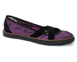 Nanette Lepore Cross Strap Skimmer Purple Satin